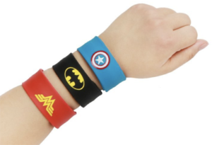 super hero slap bracelets