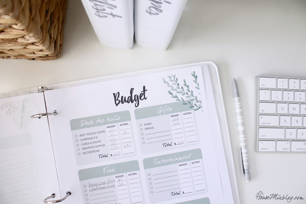 Christmas planner budget and how much we are spending this year