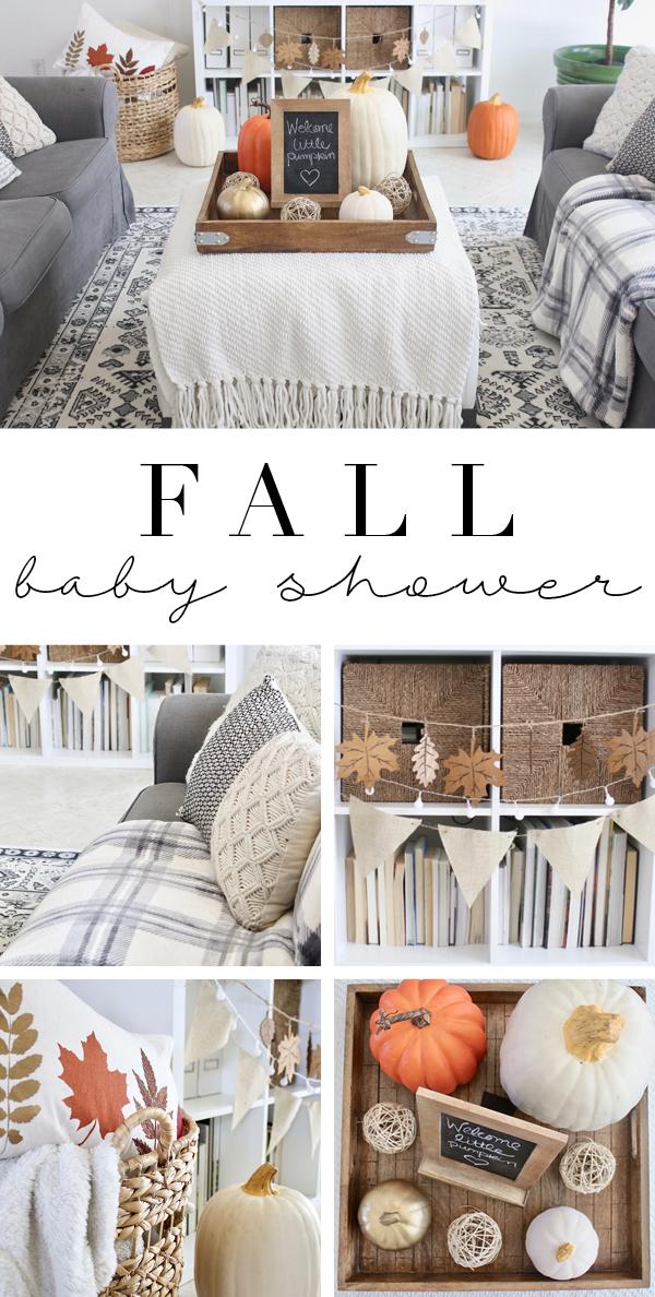 Fall baby shower decoration ideas - little pumpkin