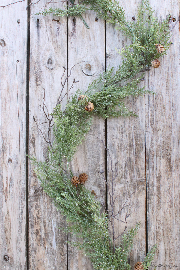 Sparkle garland with pinecones from JoAnn Fabrics