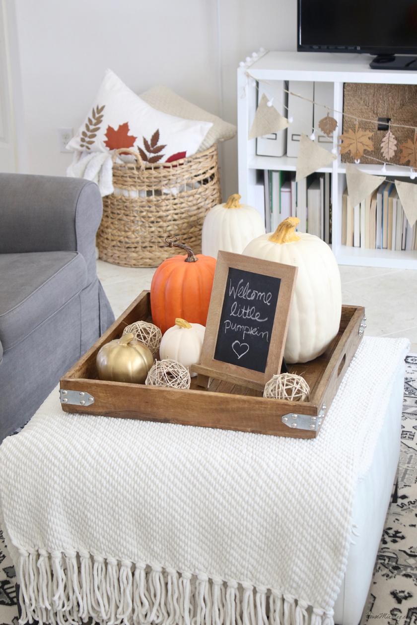 Welcome little pumpkin - fall baby shower