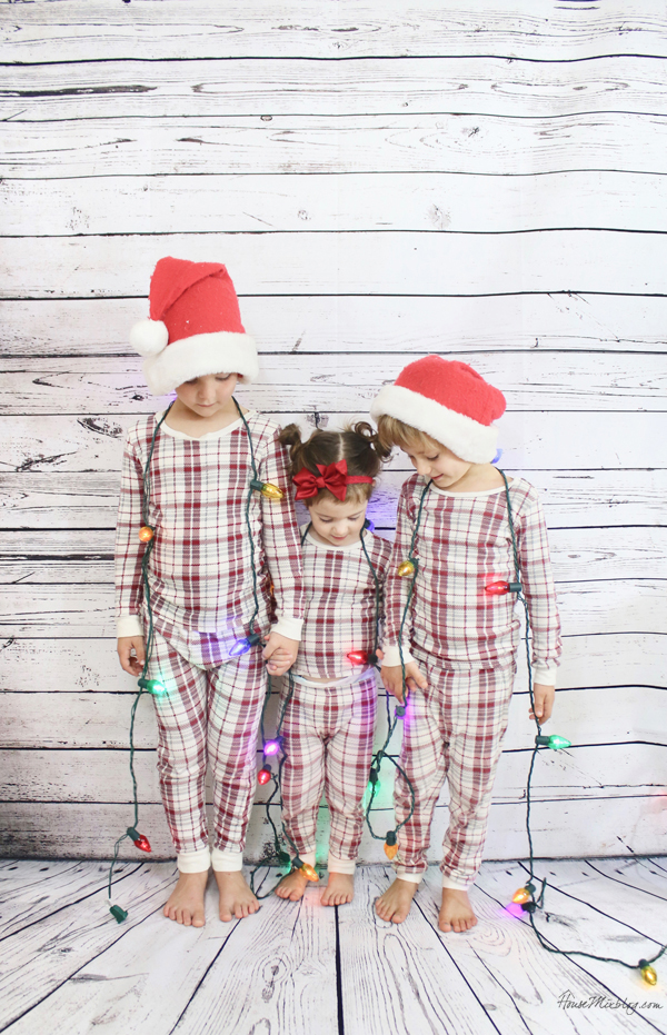 Christmas pajamas photo shoot