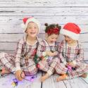Christmas pjs family photo