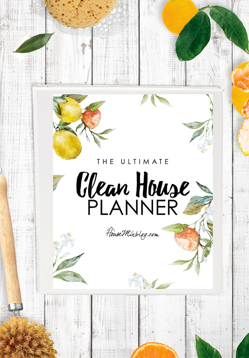 Ultimate clean house planner- printables for DIY cleaners deep cleaning calendar and daily cleaning schedule - housemixblog.com