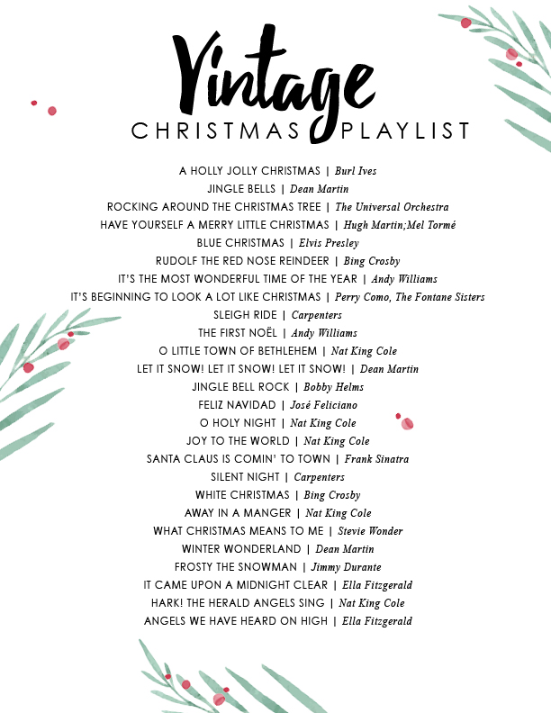 Vintage Christmas music spotify playlist