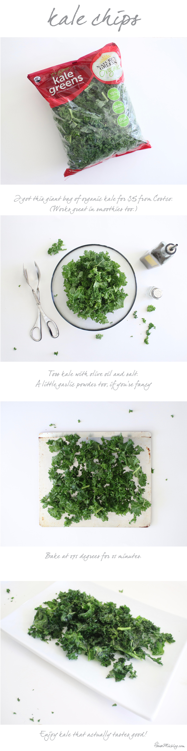 Easy kale chips recipe - healthy snack ideas