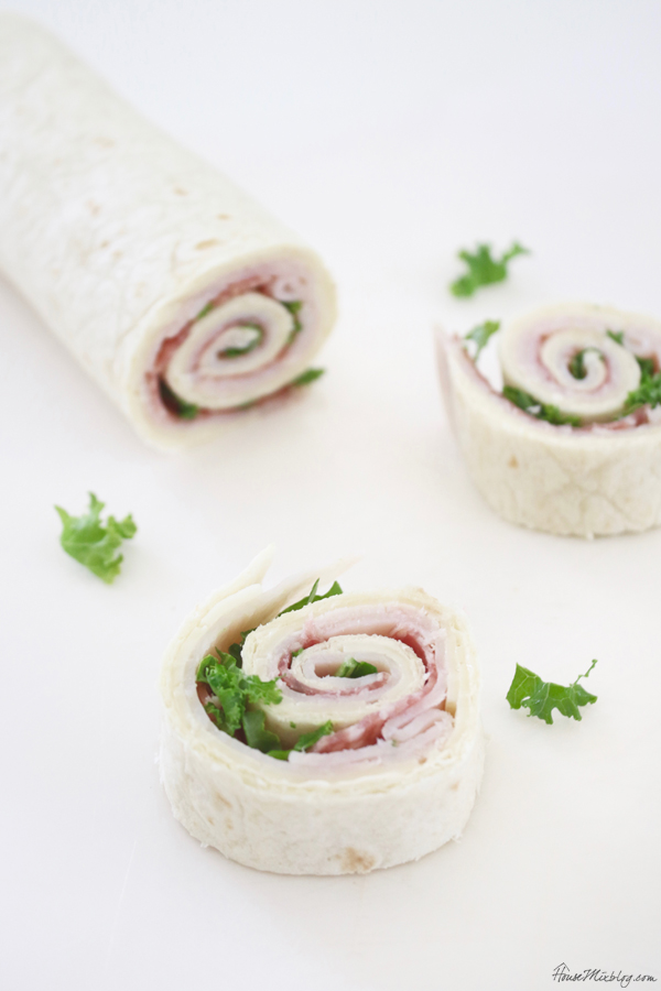 Kid lunch box ideas - Turkey salami and cheese pinwheel
