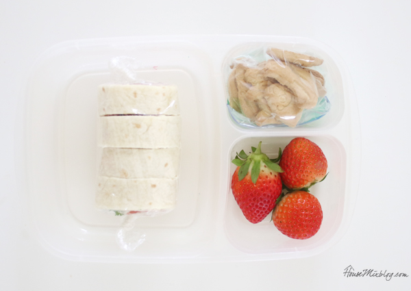 Lunch box trick - wrap crackers and dry foods in plastic