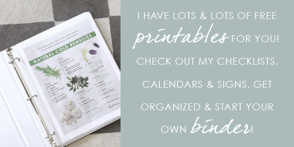 Start here - binder of checklist printables