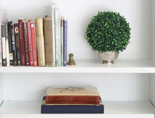 How to paint a bookshelf