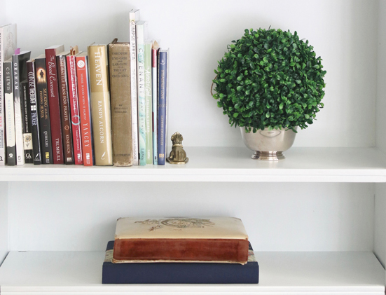 bookshelf styling 2