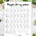 prayers for my husband 31 day calendar printable challenge