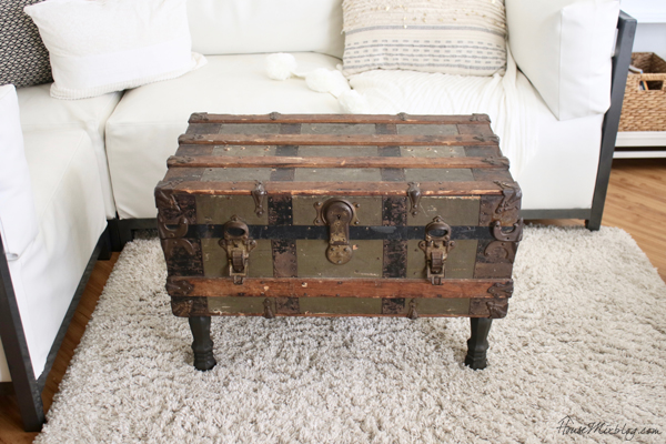 trunk converted to coffee table