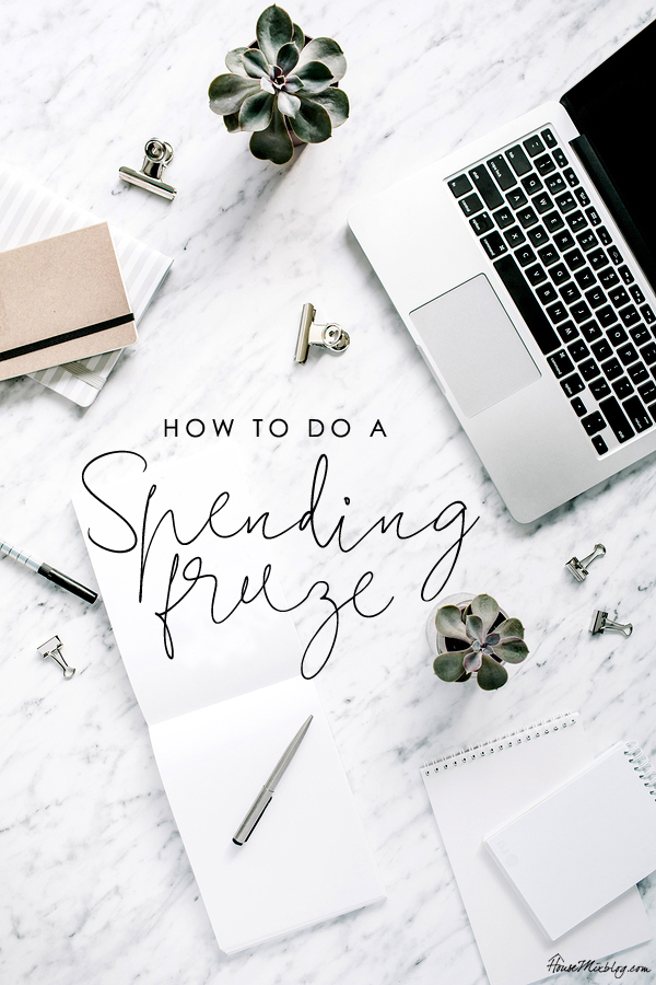 How to do a spending freeze and save money