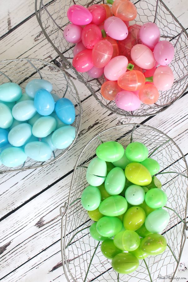 Color coded egg hunt - one color per kid