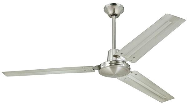 Inexpensive steel modern silver bladed fan