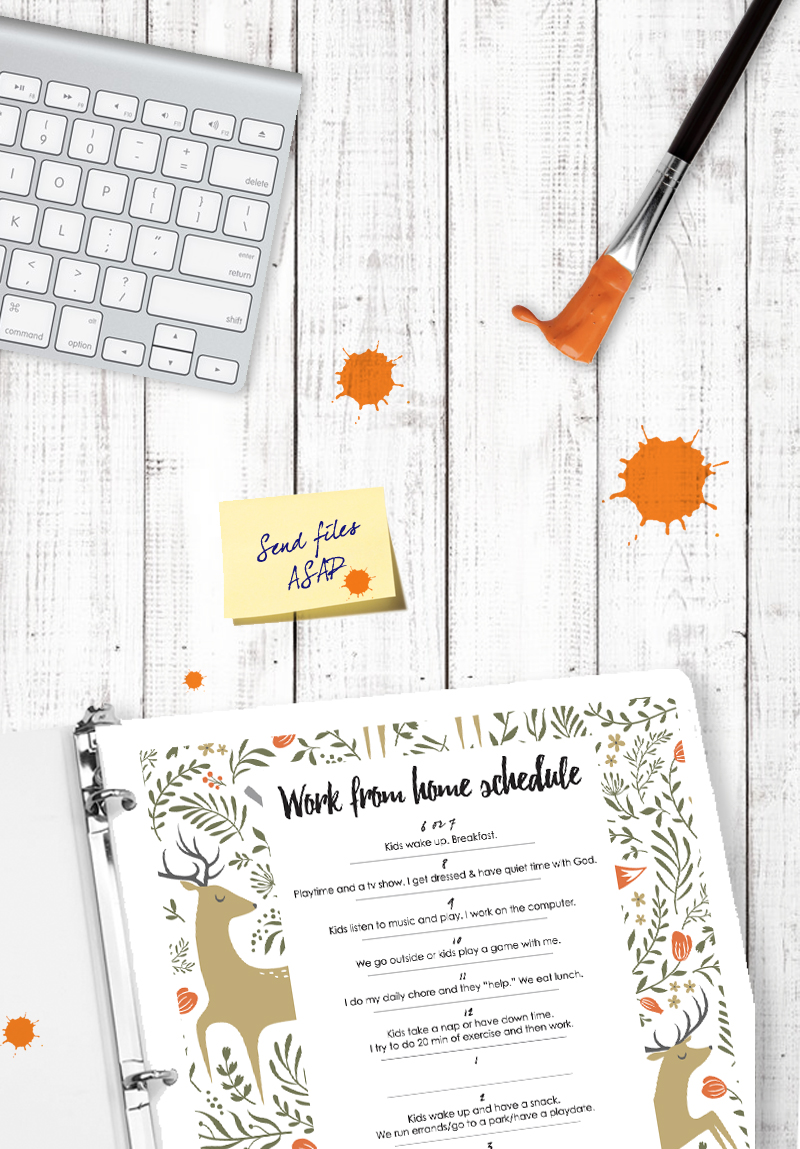 Kids planner - work from home schedule with kids