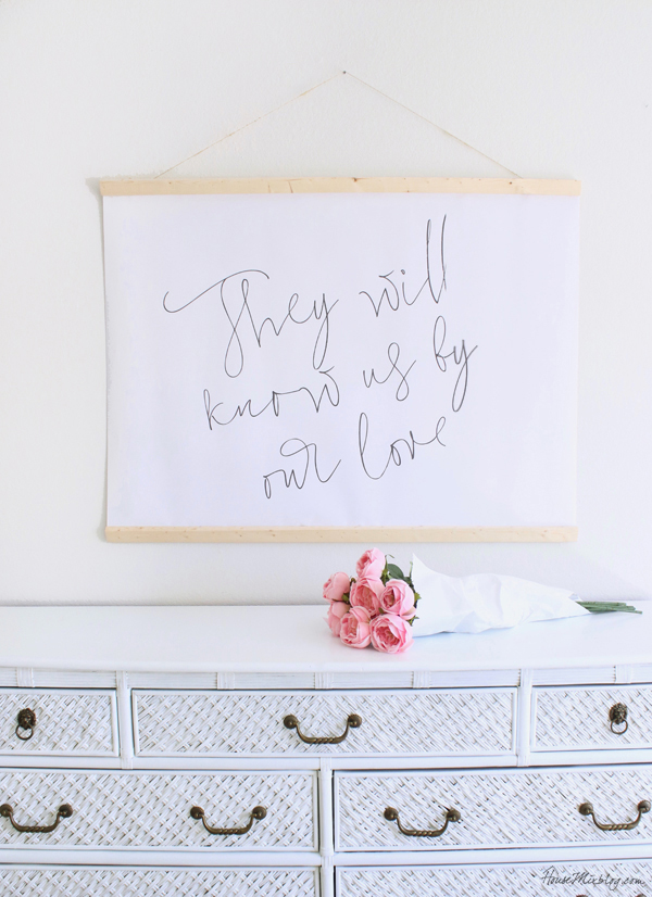 10 dollar large scale art - they will know us by our love