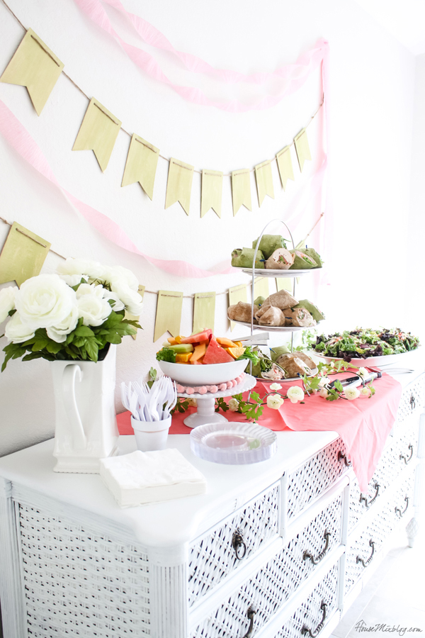 buffet table ideas for simple birthday party