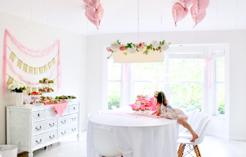 pink birthday party on a budget