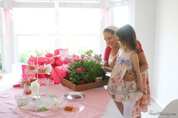 pink party pink plants gift