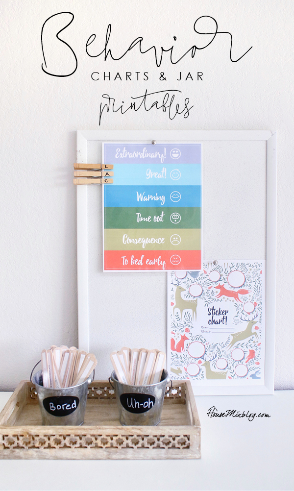 Behavior and discipline charts jars and printables - housemixblog.com