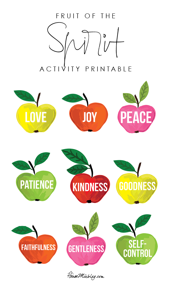 Fruit of the spirit activity printable - copyright housemixblog.com