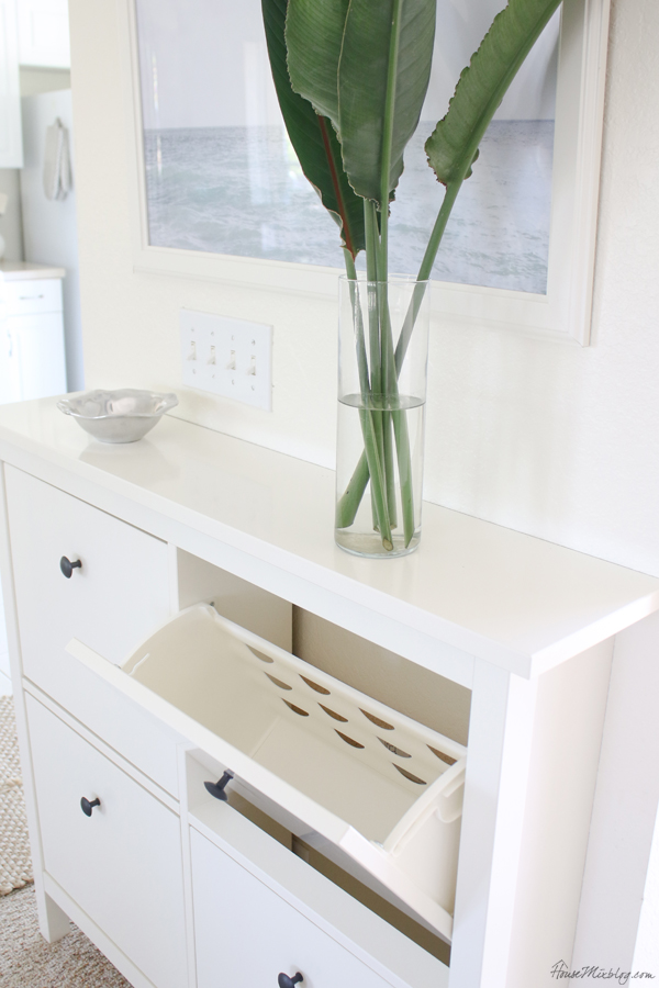 HEMNES Shoe cabinet works great in entryway