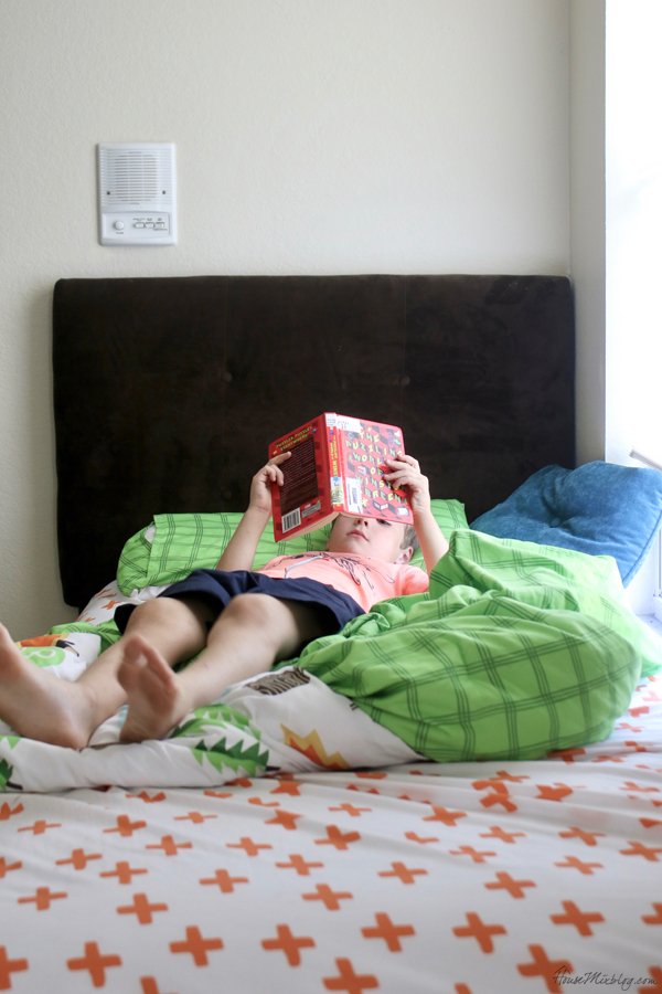 Reading a book - routine with work from home and kids
