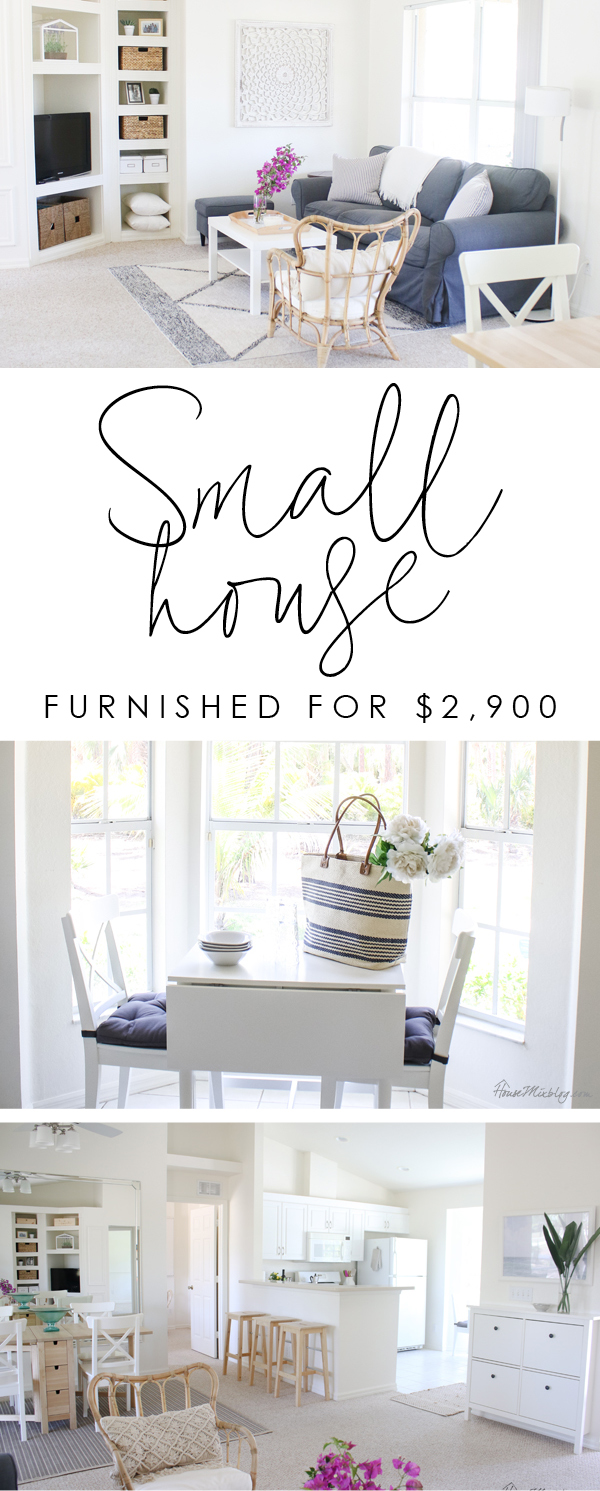 Small house furnished cheaply - guest house tour - Ikea