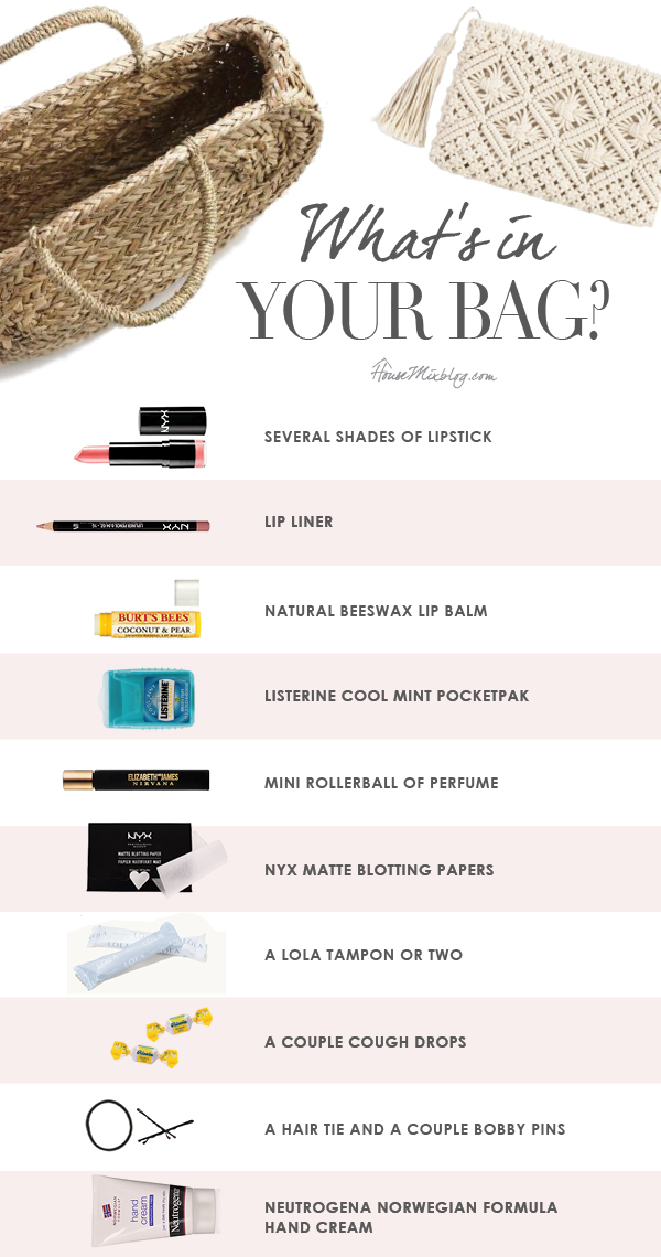 What to keep in your handbag checklist