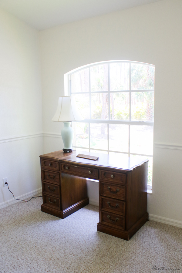 white office with large window