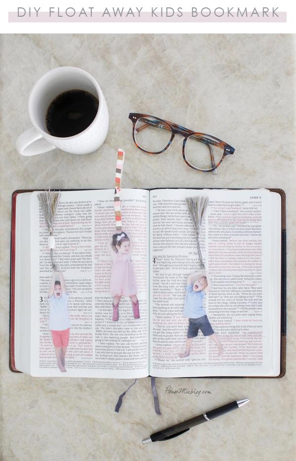 DIY float away kids bookmark - easy homemade last minute keepsake