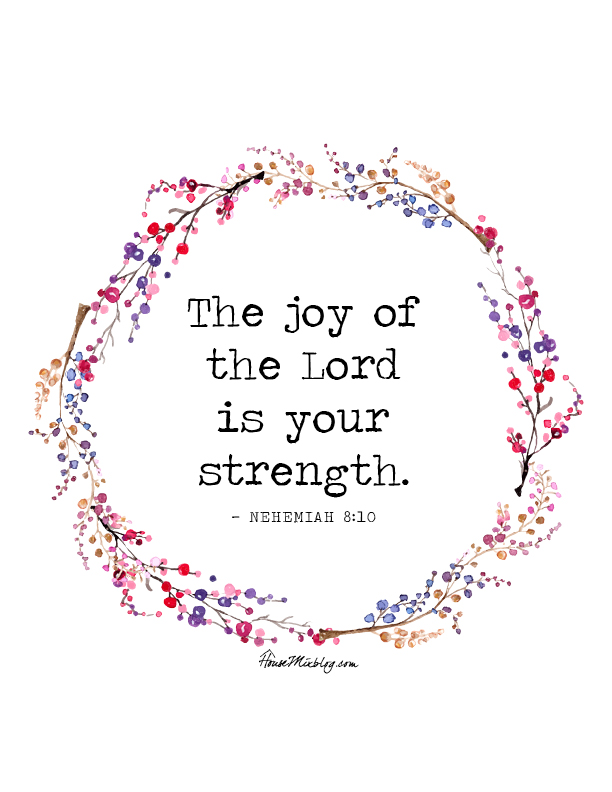 Joy of the Lord is your strength printable poster