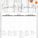 Summer planner for kids - three month summer calendar