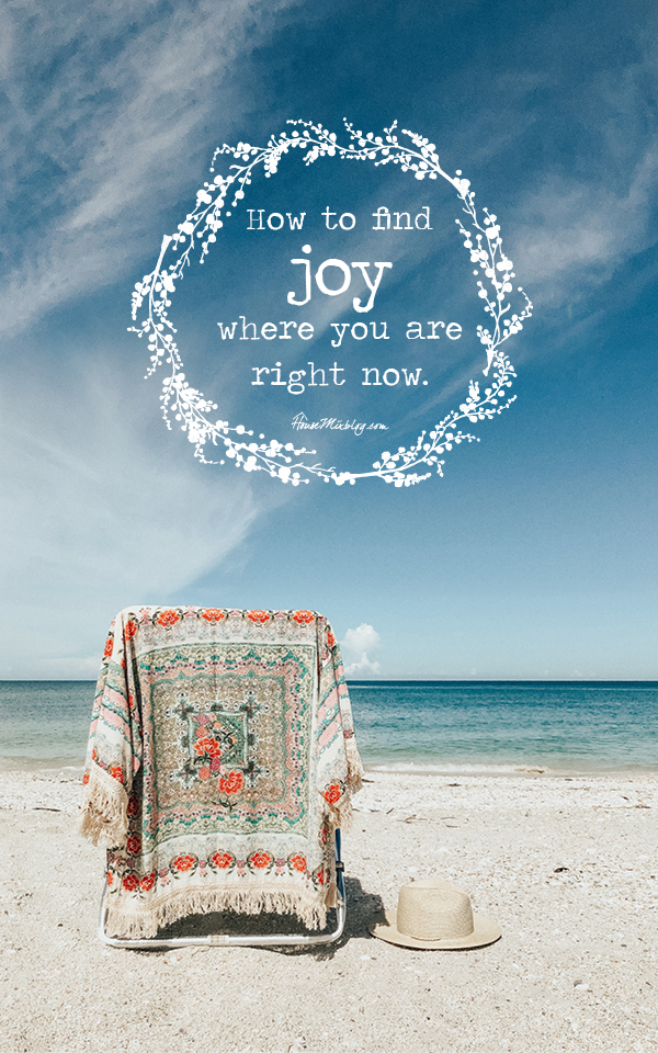 Find joy where you are right now -- housemixblog.com
