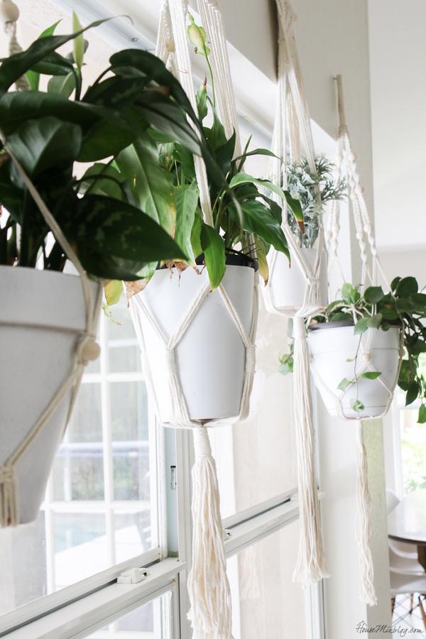 Hanging plant ideas - macrame plant hangers