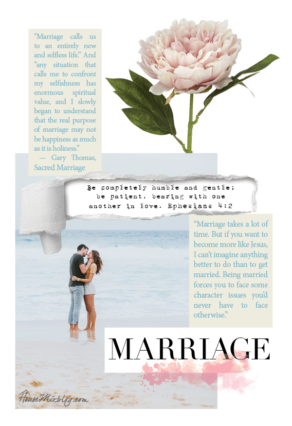 Marriage is to make us more holy than happy - housemixblog.com