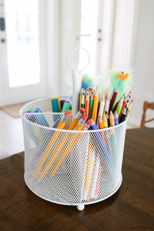 After school routine - at home school supplies