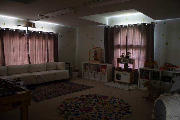 Cheap home movie theater - blackout curtains