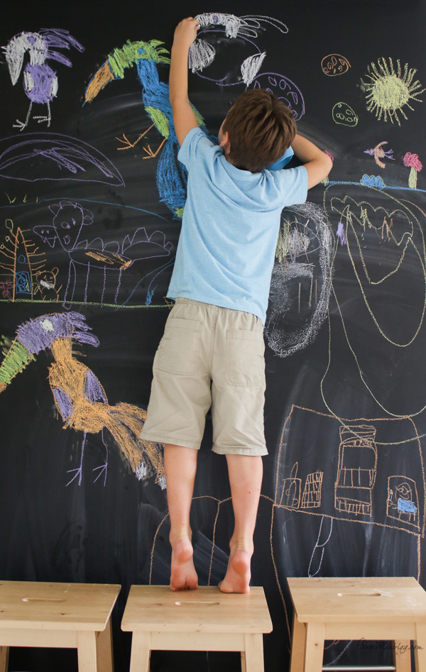 How to do a giant chalkboard wall
