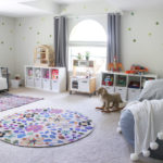 A playroom with less toys and more activities