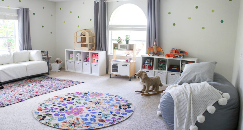 Marvelous Play Room For Big And Little Kids With Huge Chalkboard And Book Wall And  Foosball Table