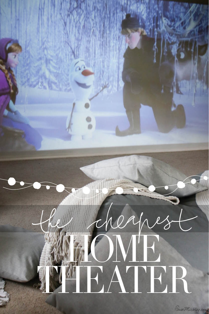 The cheapest home move theater room - so much fun for the whole family!