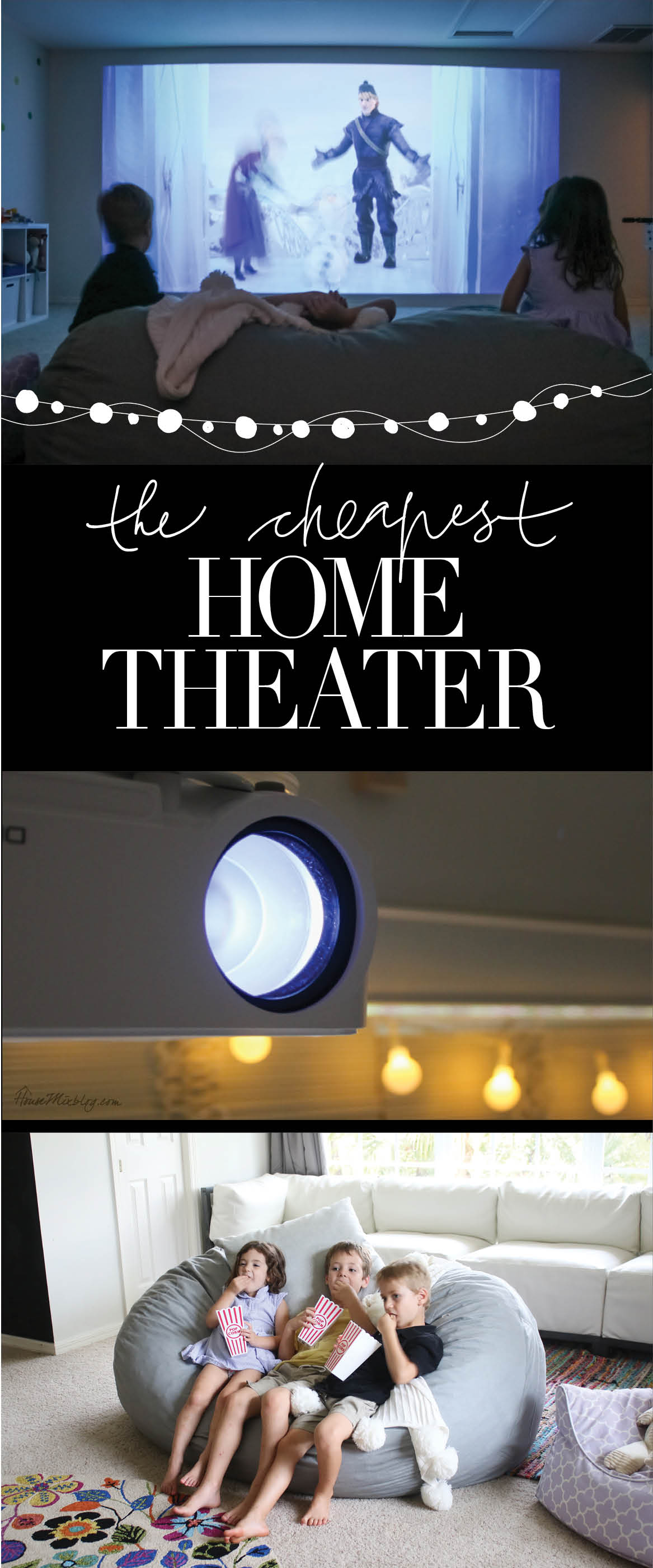 The cheapest home theater - best inexpensive projector, setup, how to play movies, surround sound, brightness, quality