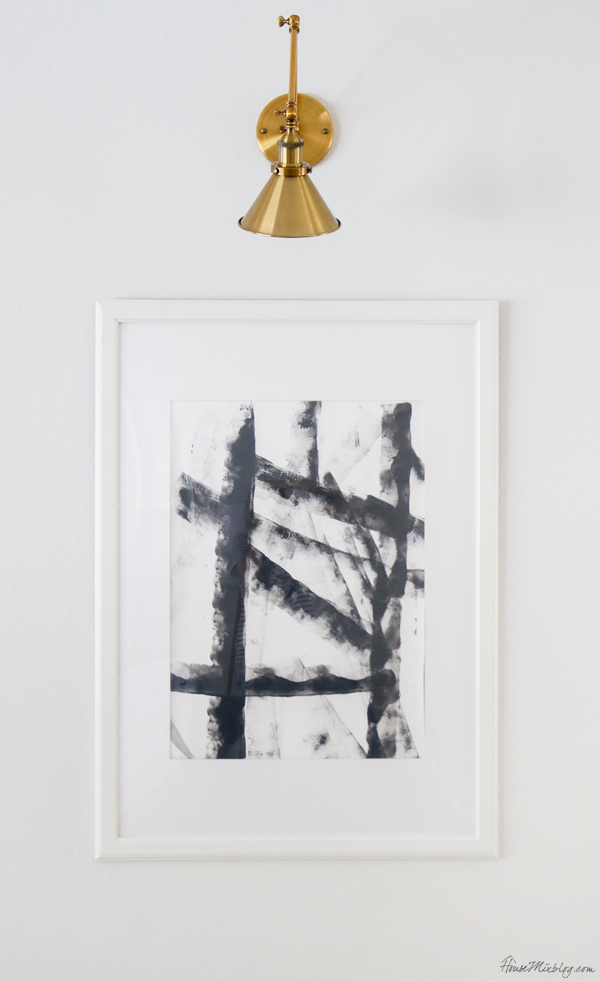 Cheap DIY art - modern abstract black and white art