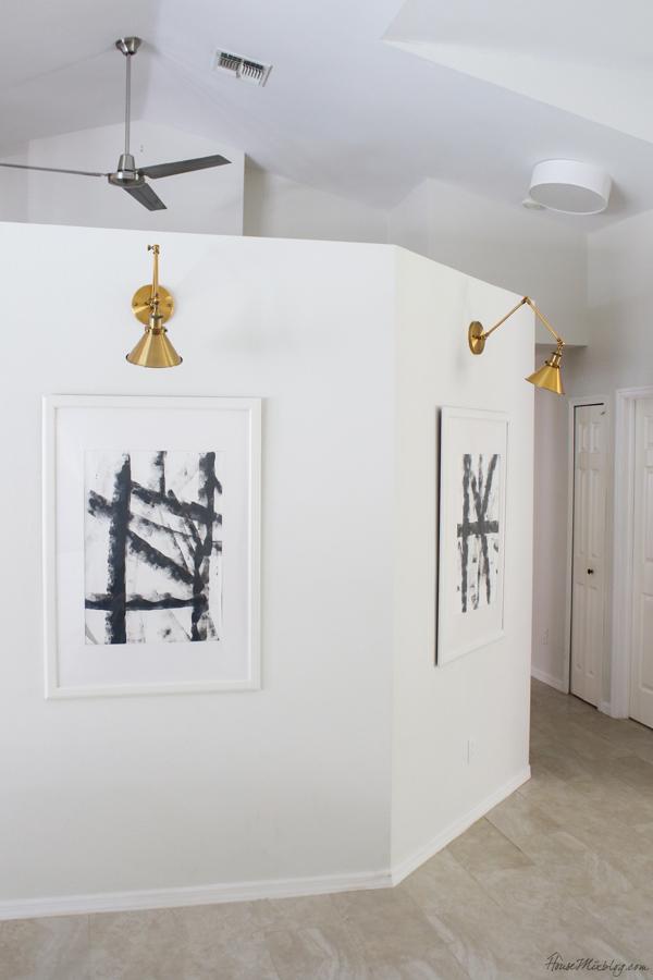 Easy DIY art anyone can do - neutral modern abstract art