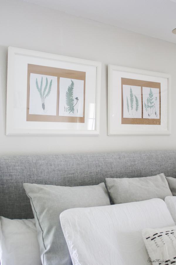 Free printable fern leaves - cheap DIY art