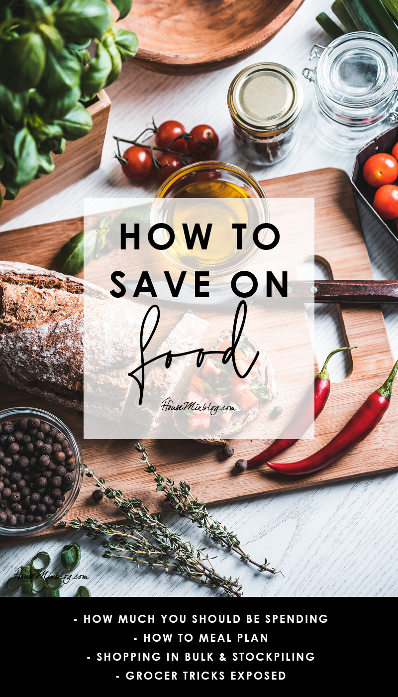 How to save money on food - how much you should be spending on groceries - meal planning