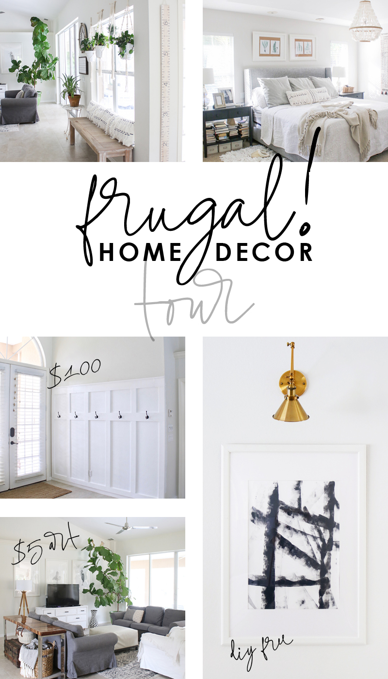 Super frugal home decor tour